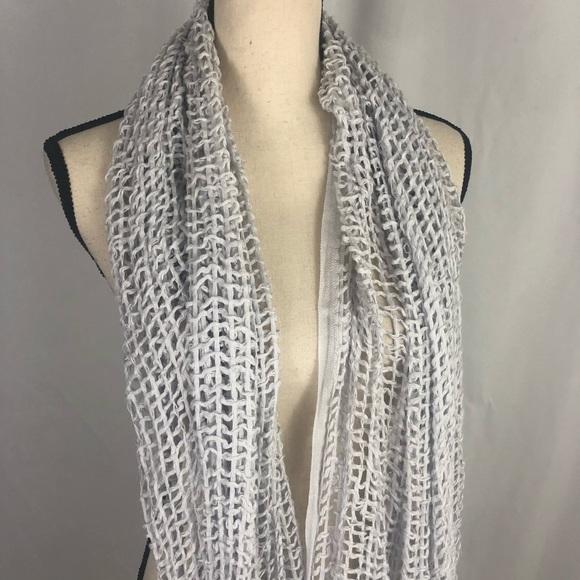 Simply Vera Vera Wang Accessories - Open weave dove gray circle scarf Vera wang simply
